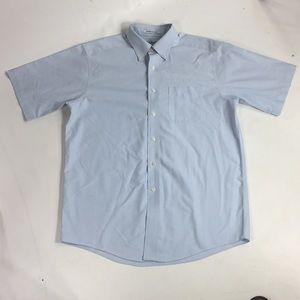 L.L. Bean 100% cotton short sleeve dress shirt